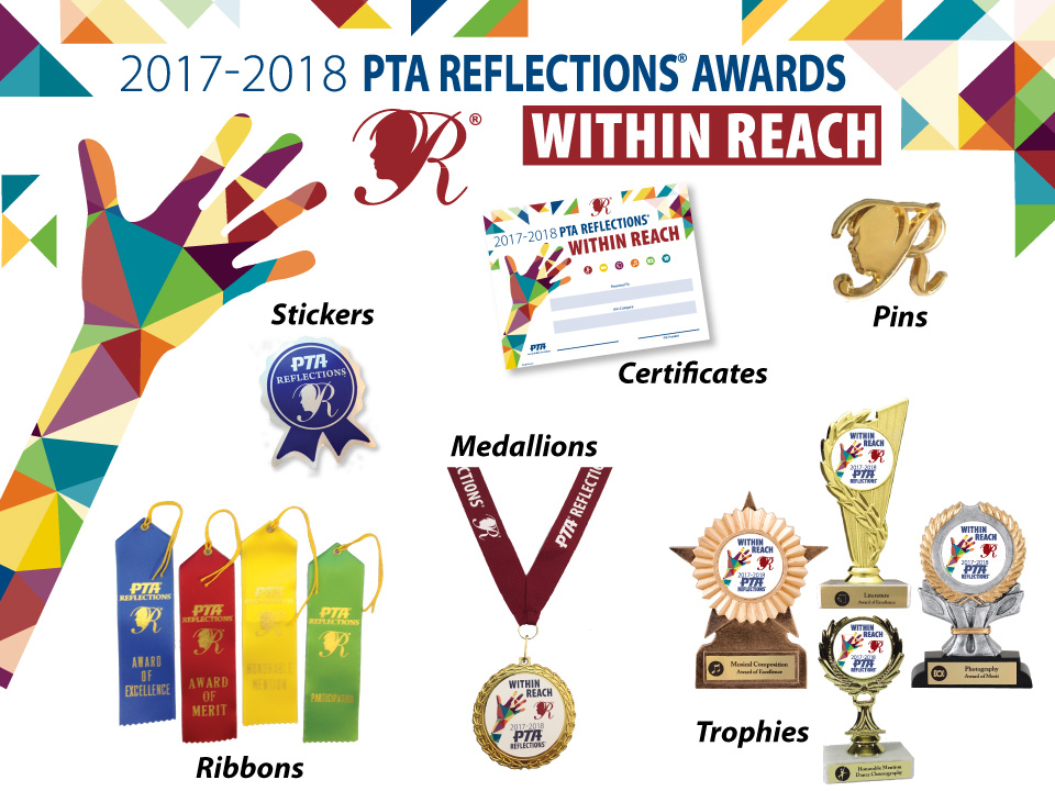 Reflections missouri pta our 2017 18 reflections awards are on sale now certificates ribbons stickers medals and trophies all awards are remarkably value priced to fit the yadclub Gallery